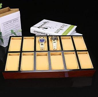 Estuche for Caja de Reloj - Estuches Premium 12 Ranuras sin ...
