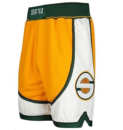 6818ffab50c Amazon.com   Mitchell   Ness Seattle Supersonics Authentic Shorts ...