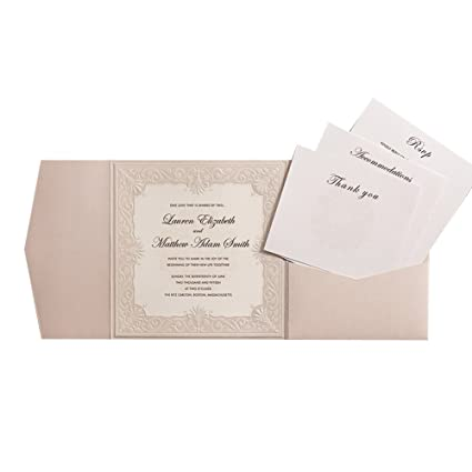 amazon com 100x wishmade ivory tri fold shimmer pearl square chic