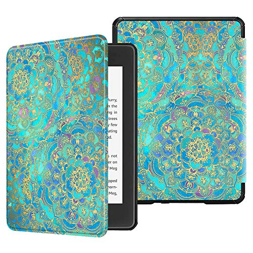 Fintie Slimshell Case for All-New Kindle Paperwhite (10th Generation, 2018 Release) - Premium Lightweight PU Leather Cover with Auto Sleep/Wake for Amazon Kindle Paperwhite E-Reader, Shades of Blue
