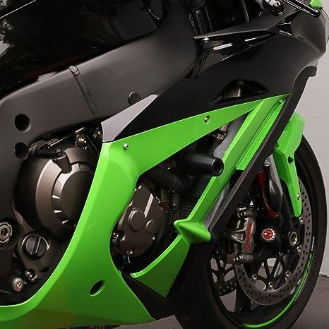 Amazon.com: 2016-2018 Kawasaki ZX10R, deslizadores de marco ...
