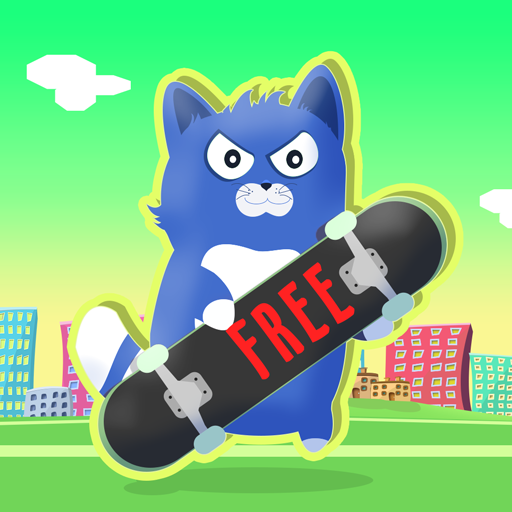 (Little Kitty on a Skateboard : The Cat Skate Race Game Fun Simulator - Free Edition)