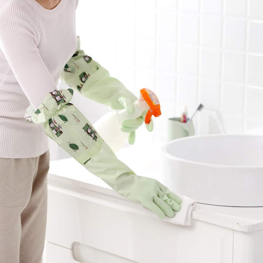 YWRD Silicone Dishwashing Gloves Dishwashing Scrubber Pvc Heat Resistant Scrubbing Magic Reusable Cleaning Gloves blue