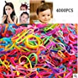 JIAHUI 4000 pcs Multi Candy Color Tpu Baby Girl\'s Kids Hair Holder Hair Tie Elastic Rubber Bands