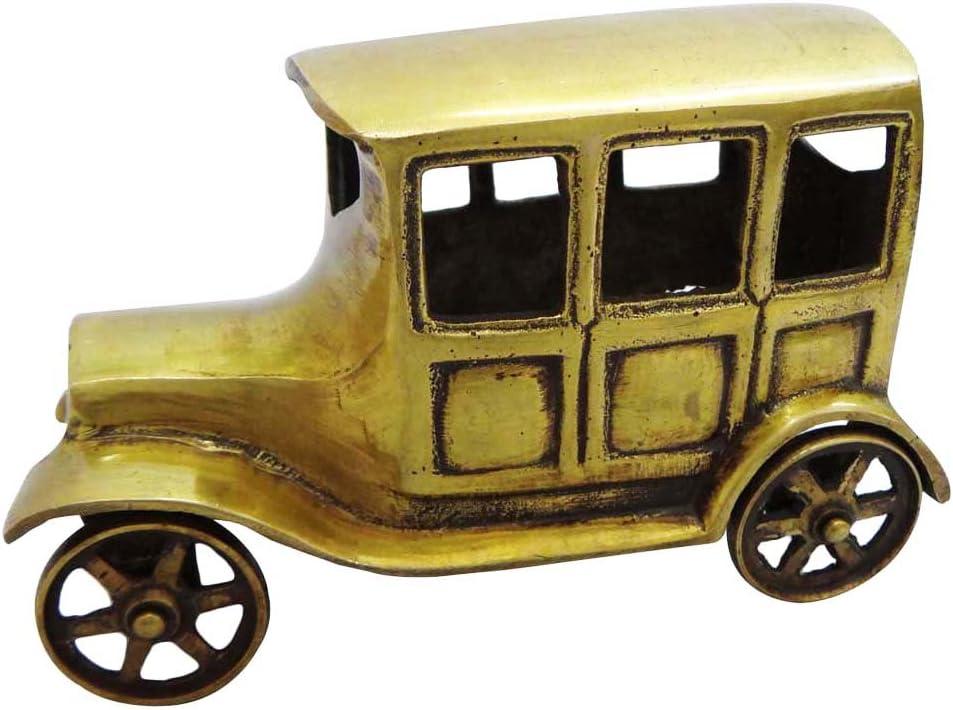 ゴールドHistoricalジープStatue真鍮メタル置物手彫り彫刻Indian