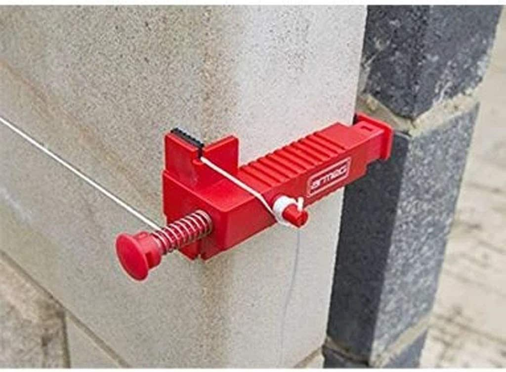 Fix The Clamps for Building Construction Fixture Masonry Tools Wire Drawer Bricklaying Tool Fixer Brick Line Clips Line Runners House Garden Accessories Wall Builder Wire Rack