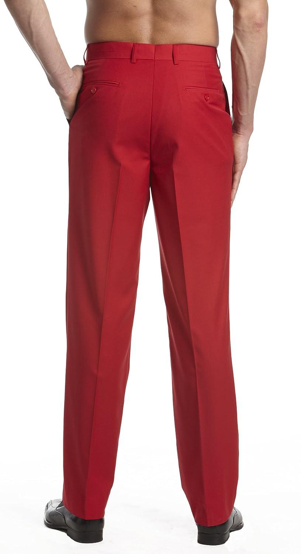 Red Dress Pants For Men S - Concitor collection men u0027s dress pants trousers flat front slacks
