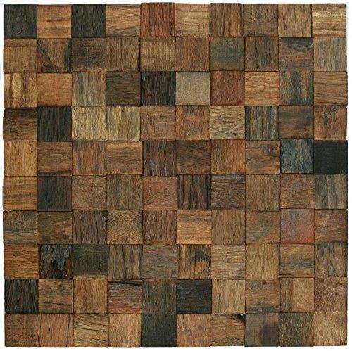 Copper Rustic Headboard - Reclaimed Boat Wood Tile 1.25