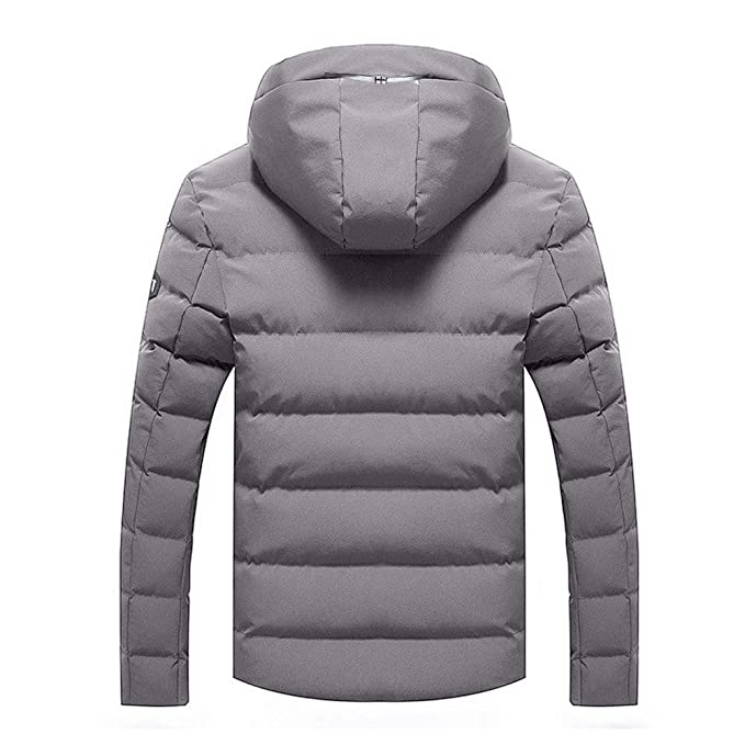 Amazon.com: Big Daoroka Mens Cotton-Padded Hoodies Jacket Fleece Autumn Winter Thick Warm Coats Fashion Casual Zipper Pocket Outwear Overcoat: Toys & Games