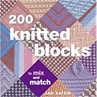 200 knitted blocks for blankets, throws and afghans
