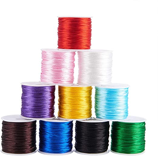 KUMIHIMO BRACELET MAKING SET CHOSE COLOUR NYLON THREAD//RATTAIL CORD/& FASTENING