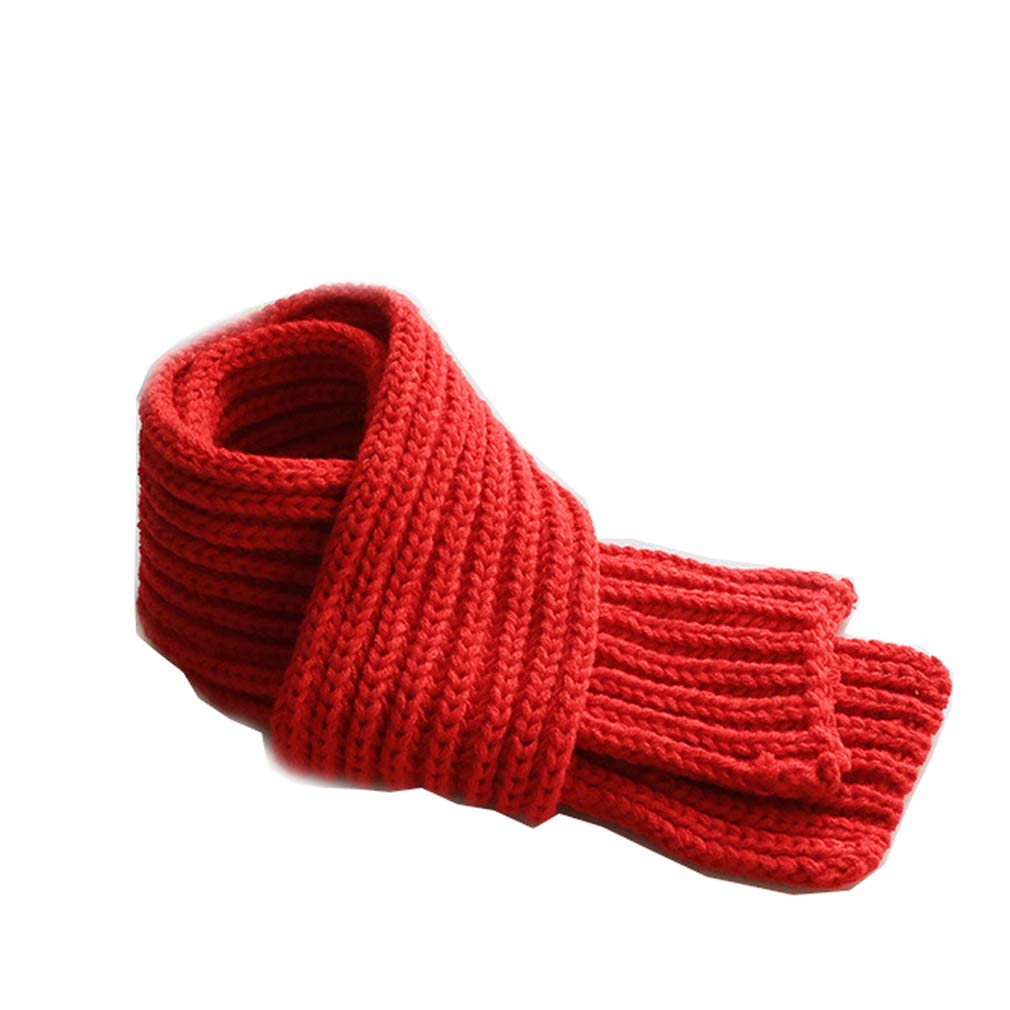(Age 1-12) Orityle Kids Winter Knitted Solid Color Scarves Neck Warmer Thick Scarf for Girl Boy