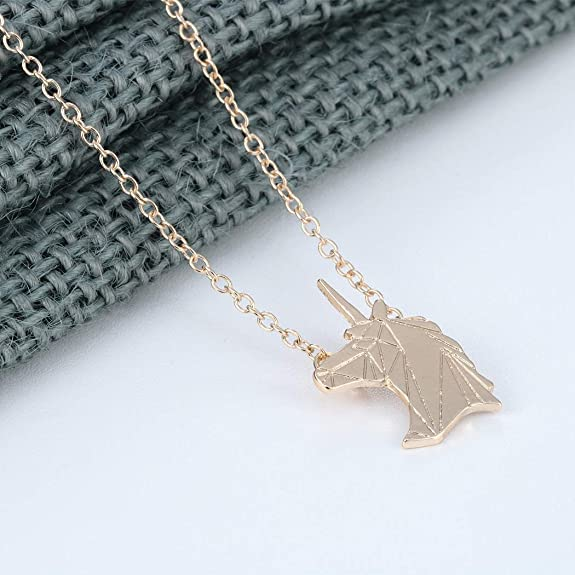 BONSNY Enamel Running Horse Necklace Pendant Chain Zinc Alloy Animal Lovers Design 18