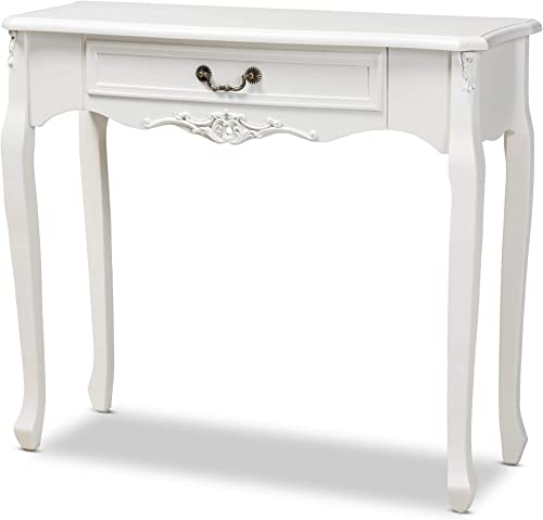 Baxton Studio Console Tables, White Brass