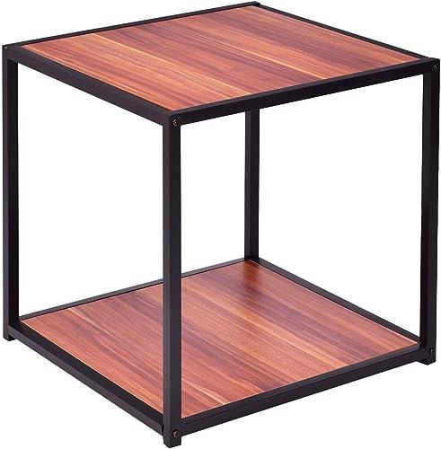 GOFLAME Sofa Side Table Rectangular