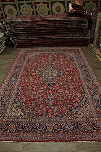 - Nice Antique Handmade Palace Size Kashan Persian Style Rug Oriental Area Carpet 10X16