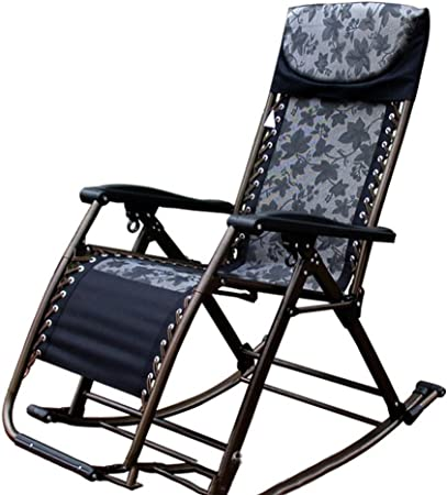 Amazon Com Rocking Chairs Deck Chair Elderly Leisure Chair Adult Lunch Chair Easy Chair Color Black Size 9090180cm Garden Outdoor