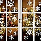 WYCY Decoraciones navideñas 162 piezas Pegatinas de copo de nieve navideñas Pegatinas electrostáticas de copo de nieve Pegatinas de vidrio para ventanas Adhesivos reutilizables para ventanas 6 hojas
