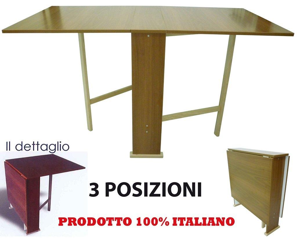 Tavolo tavolino in legno marrone per casa cucina pieghevole ...