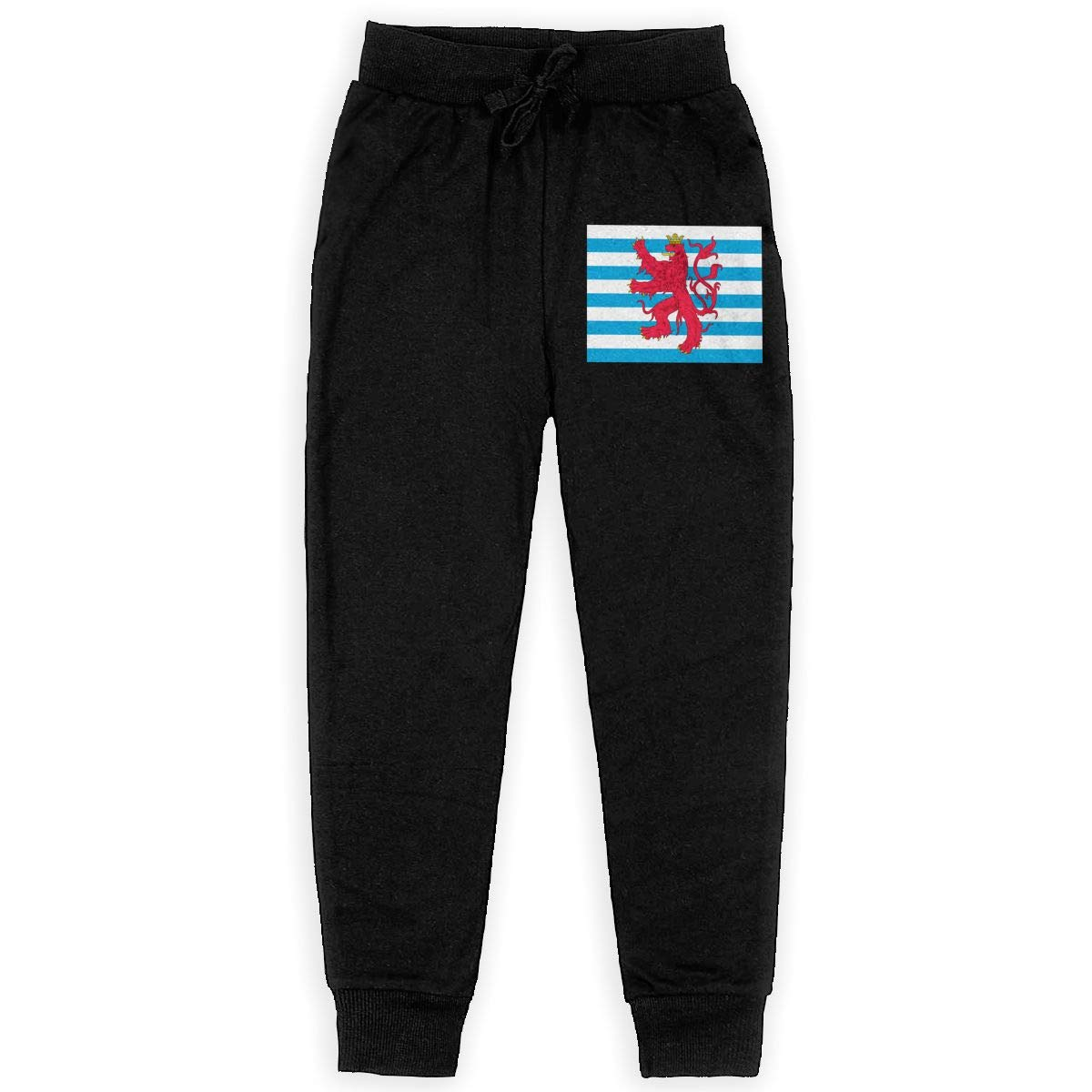 Qinf Boys Sweatpants Civil Ensign of Luxembourg Joggers Sport Training Pants Trousers Cotton Sweatpants for Youth