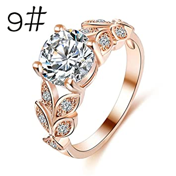 greatfun mujeres niñas Fashion Pretty Zircon anillo princesa anillo anillos de boda anillo de compromiso: Amazon.es: Oficina y papelería