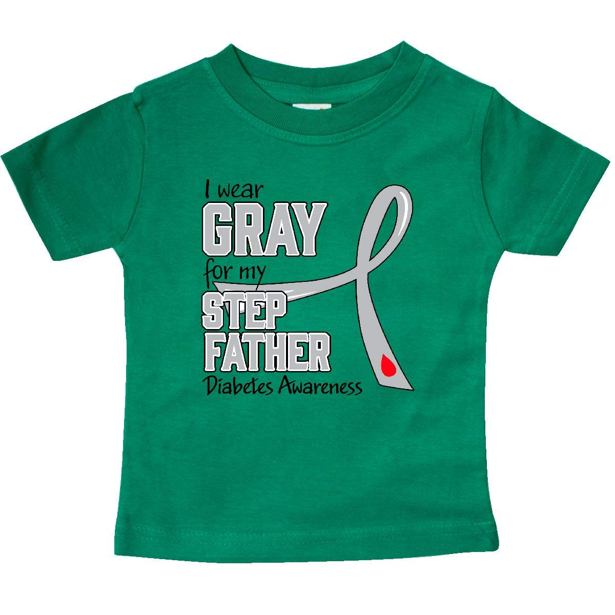 Diabetes Awareness Baby T-Shirt inktastic I Wear Gray for My Stepfather