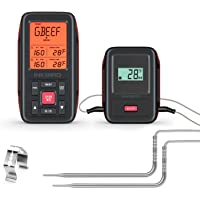 Inkbird BBQ Wireless 500ft Remote Meat Thermometer with 2 Probes IRF2SA Fahrenheit Celsius Instant Read Thermometer with Alarm for Grilling Kitchen Outdoor Cooking Smoker Oven