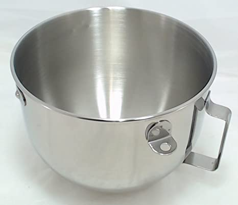 Amazon.com: KitchenAid 5 Quart acero inoxidable pulido tazón ...