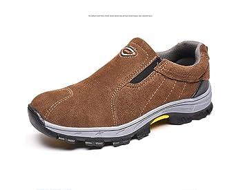 Adong Zapatos de Seguridad de Trabajo Hombres de Acero Dedo del pie construcción Botas Mujeres Trabajo cálido Seguro Zapatos para policía Militar Carretera ...