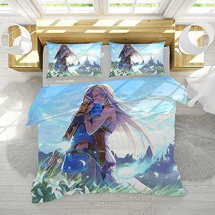 Canvas Housse De Couette Taies Doreiller 3d Legend Of Zelda