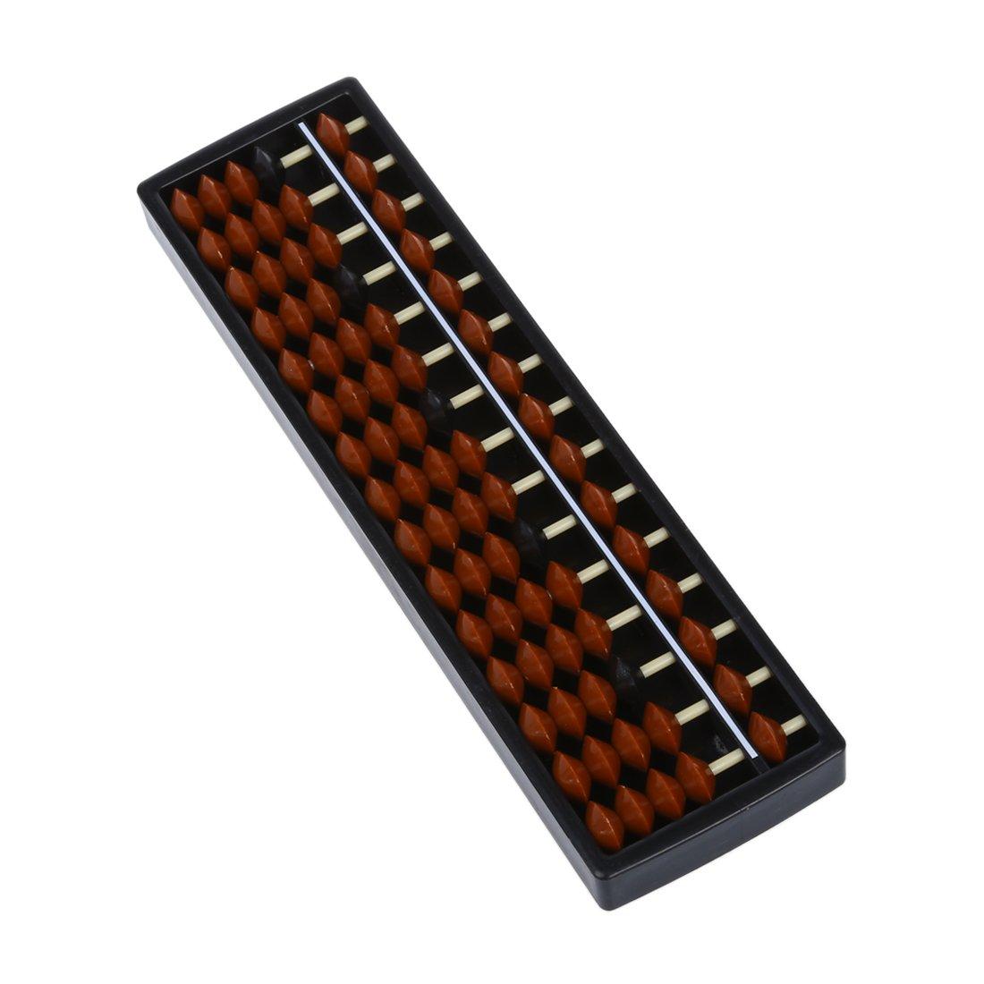 Mini Plastic Abacus Arithmetic Soroban Calculating Tool 15 Digits R SODIAL