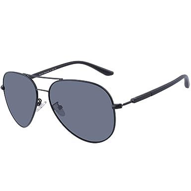 5f0462cf0e DUCO Premium Pilot Polarized Sunglasses for Men Women 100% UV protection  3027 (Black)  Amazon.co.uk  Clothing