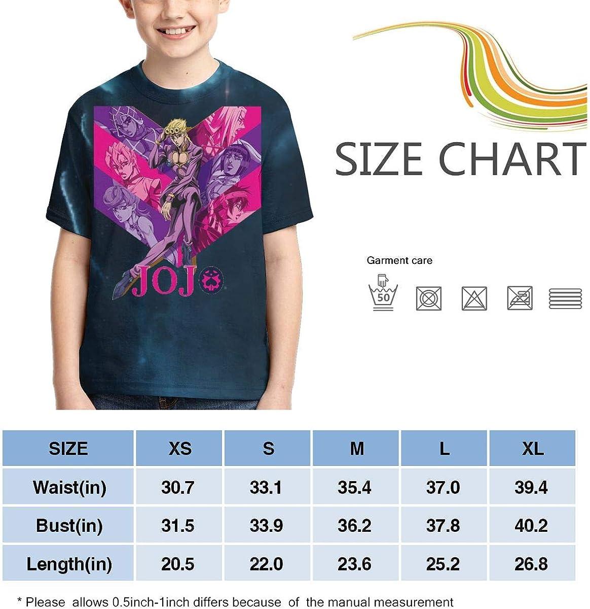 Zengqinglove Boys,Girls,Youth JoJo S Bizarre Adventure Golden Wind Meets Tower Records T-Shirt