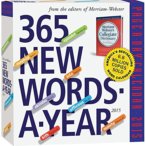 365 New Words-A-Year Page-A-Day Daily Box / Desk Calendar 2015