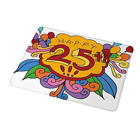 Amazon.com: Alfombrilla de ratón portátil para 25 cumpleaños ...