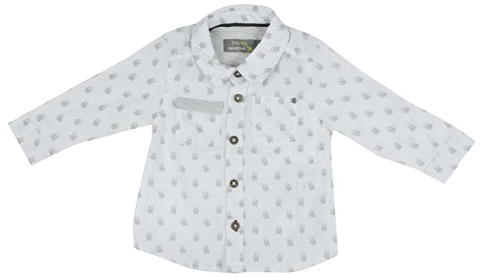 c3aea47b0db68 Orchestra Boy's Shirt (White, 6 Months - 1Yr) with Contrast & Free ...