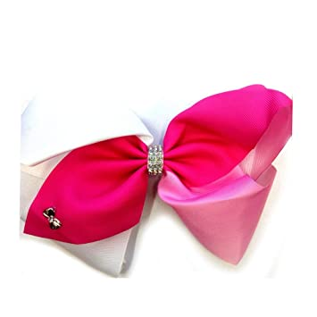 girl hair accessories white bow clips large