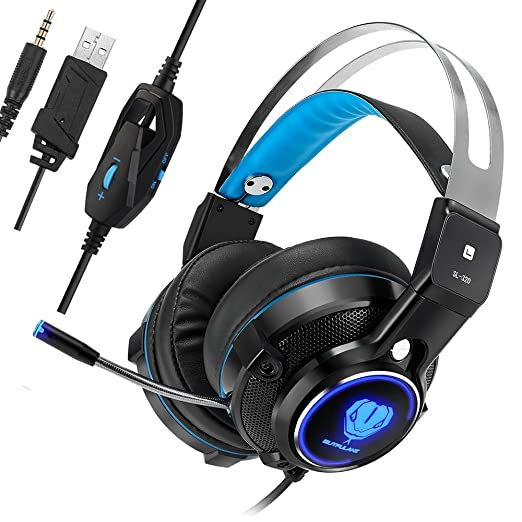 Butfulake Cuffie Gioco Gaming Headset Per PS4 Xbox One PlayStation 4  Nintendo Switch PC con Mic e17ed61289b9