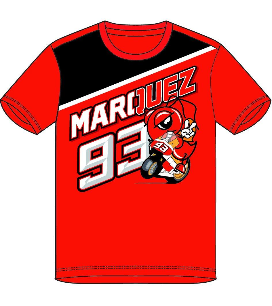 Marc Marquez 93 Moto GP Panel Ant Niñ os Camiseta Rojo Oficial 2018