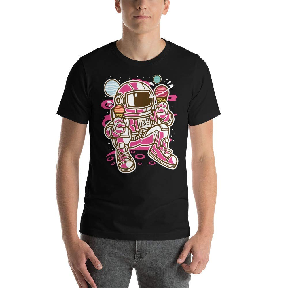 Astronaut Ice Cream Time Pink Mens T-Shirt