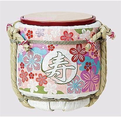 Amazon.co.jp: ミニ鏡開き こも樽 和モダン寿 ピンク 【 結婚式披露宴 ...