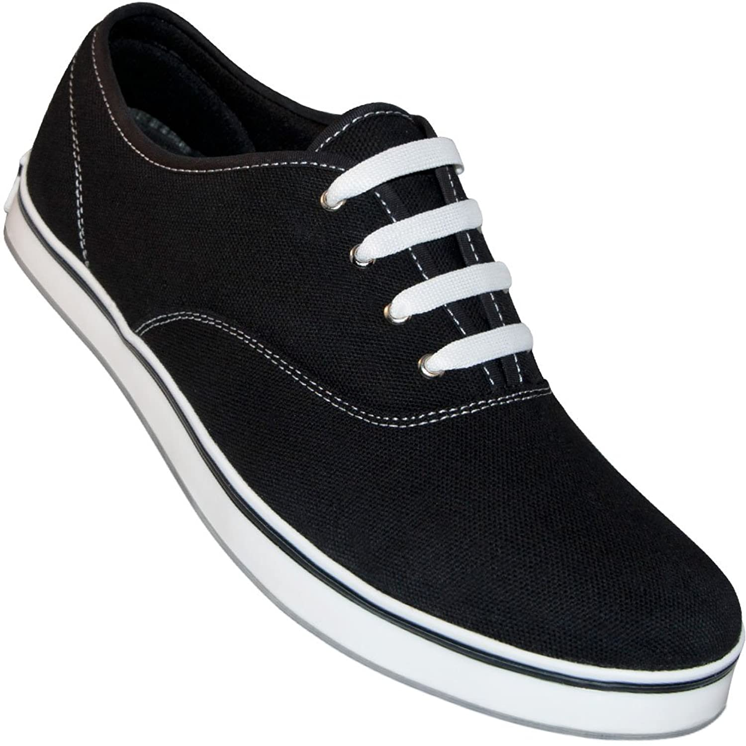 1960s Mens Shoes- Retro, Mod, Vintage Inspired Aris Allen Mens Black Classic Dress Dance Sneaker $48.95 AT vintagedancer.com