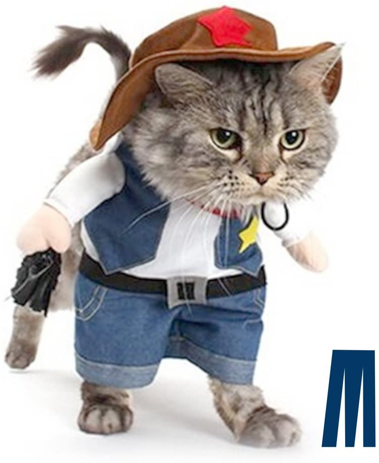Amazon Com Mikayoo Pet Dog Cat Halloween Costumes The Cowboy For Party Christmas Special Events Costume West Cowboy Uniform With Hat Funny Pet Cowboy Outfit Clothing For Dog Cat S Pet Supplies