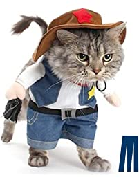 Amazon costumes apparel accessories pet supplies mikayoo pet dog cat halloween costumesthe cowboy for party christmas special events costume solutioingenieria Images