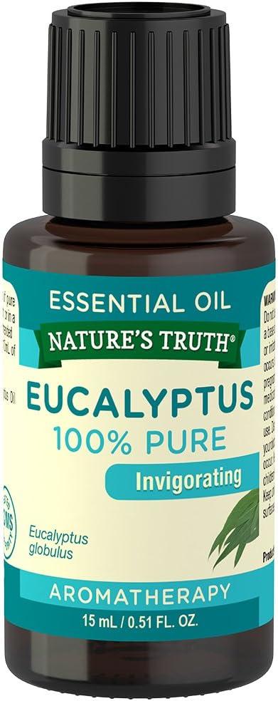Nature's Truth Aromatherapy 100% Pure Essential Oil, Eucalyptus, 0.51 Fluid Ounce