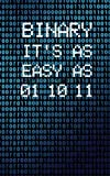 Binary It's As Easy As 01 10 11: Programmer Small
