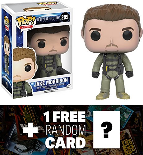 Jake Morrison: Funko POP! x Independence Day: Resurgence Vinyl Figure + 1 FREE Classic Sci-fi Movies Trading Card Bundle (094935)