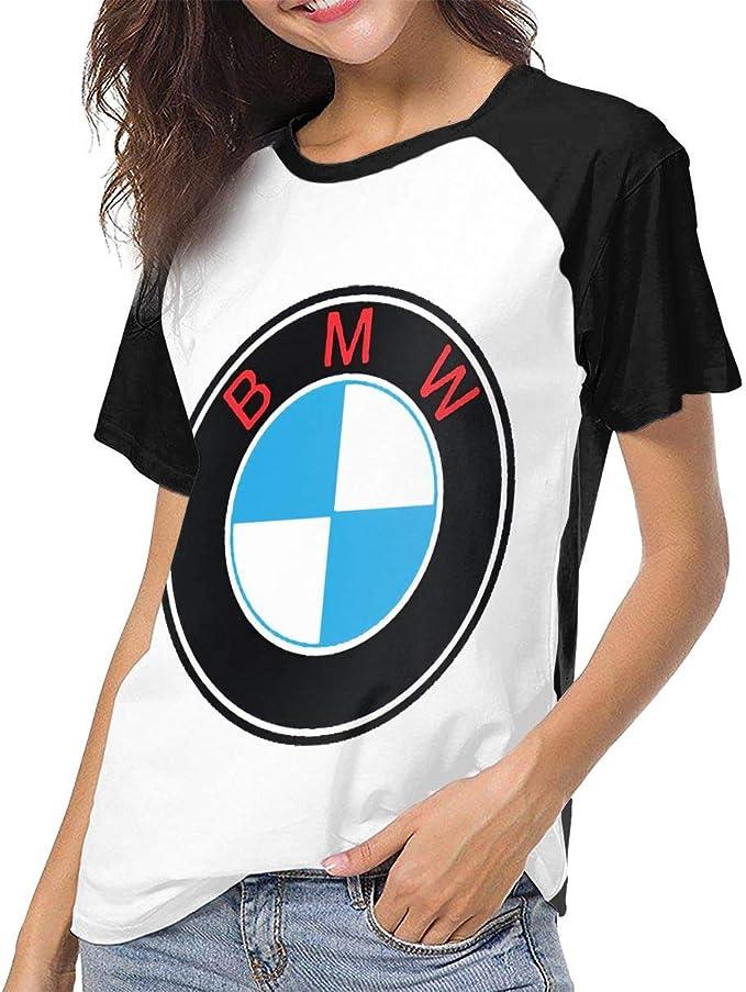 fffdaww BMW Logo Mujer Sport Camisetas de béisbol de Manga Corta BMW Logo T-Shirt