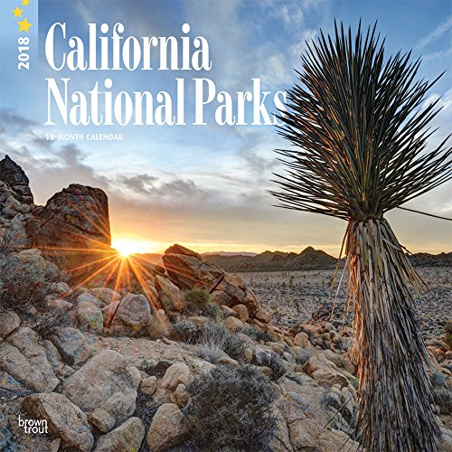California National Parks 2018 12 x 12 Inch Monthly Square Wall Calendar, USA United State of America Pacific West Scenic Nature (English, French and Spanish Edition)