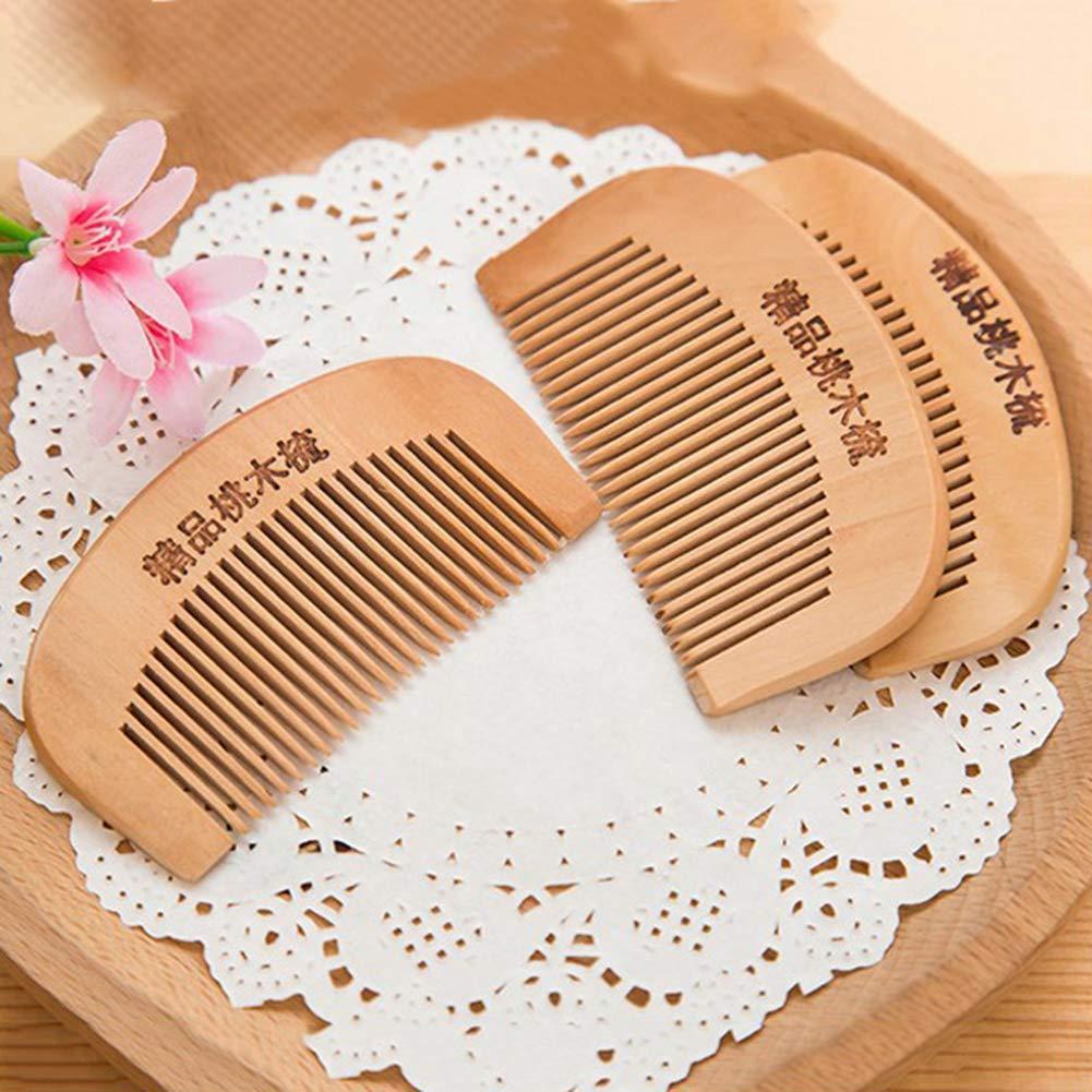 SEniutarm Peach Wood Comb Hair Health Care Close Teeth Anti-Static Head Massage